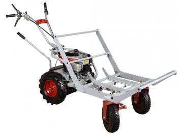 Korba na metrové dříví pro podvozek řiditelného vozíku KOR 220